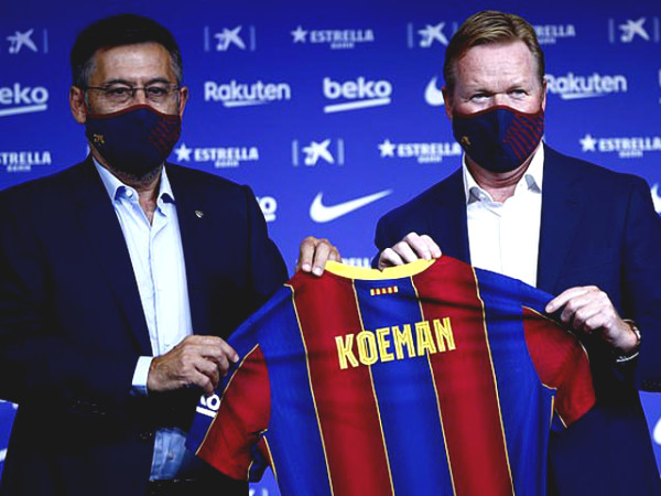 Coach Koeman will remove who, talking about how Messi is at Barca's launch date?