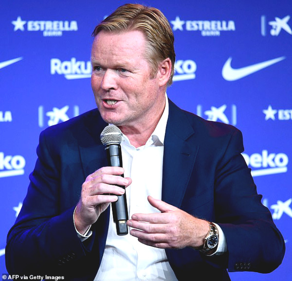 Coach Koeman will kind who, talking about how Messi in Barca's launch date?