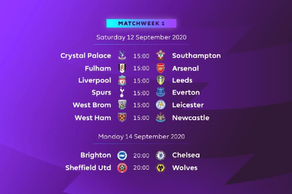 OFFICIAL fixture of Premier League 2020/21: Liverpool will be in trouble. Which team will MU face?