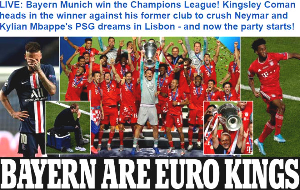 C1 Cup champion is Bayern Munich: Press praised the hero who unexpectedly defeated PSG