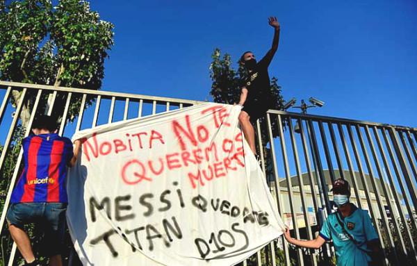 Barca fans furious
