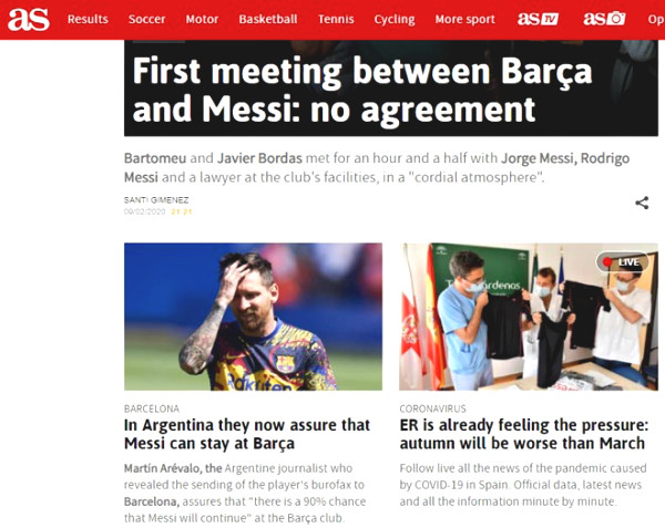 Press revealed news about Messi transfer