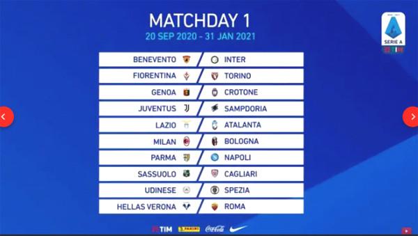 Serie A next season calendar alerts: Juventus - Ronaldo has new military