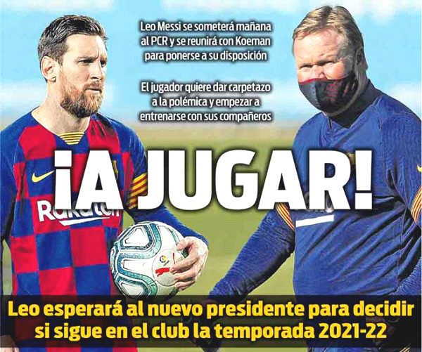 "Messi set conditions to renew contract with Barca, waiting for the old man to be ""crowned"""