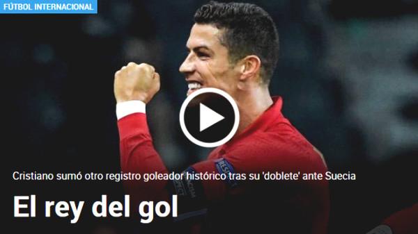 "Ronaldo scored 101 goals like a ""rocket"": The press hailed ""King scorer"""