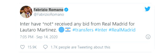 Real private ro reach agreement recruited Martinez Lautaro 100 million euros