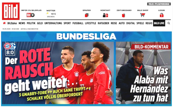 Bundesliga Bayern's 8-0 win: Europe is overwhelmed, newspapers recommend to give them the trophy already