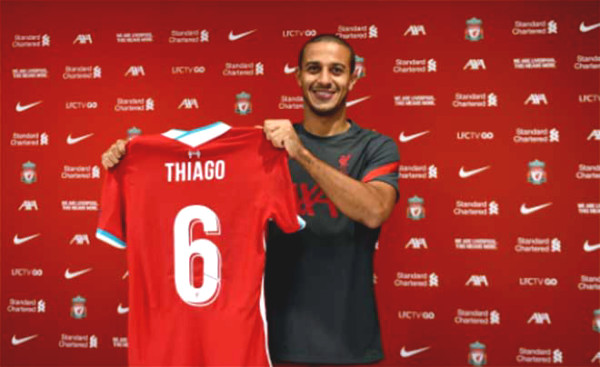 Liverpool shocked after Thiago: SAO join £ 45m, borrowed Dembele