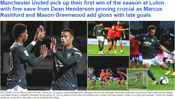 Manchester United crushed weaker opponent: British newspapers praised Mata and unexpected hero