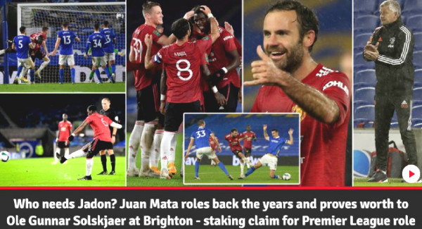 Manchester United defeated Brighton: Which star does British newspapers praise best?
