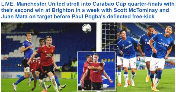 Manchester United trounced Brighton: British newspapers praised Star Best?