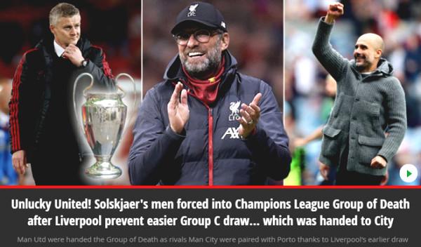 C1 Cup draw: British newspapers worry MU having