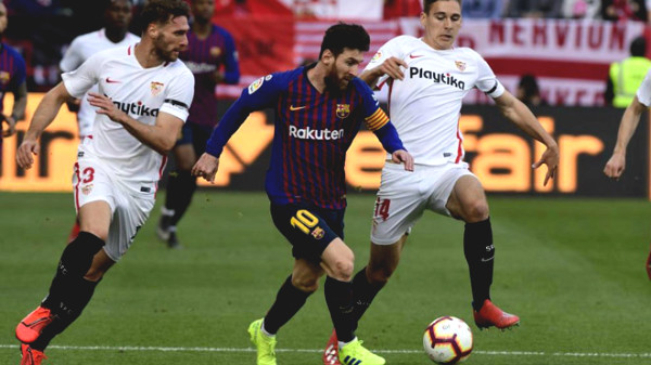 Direct football Barcelona - Sevilla: Messi missed the last chance