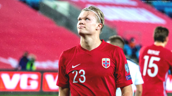 Erling Haaland had a great perfomance with a hat-trick for Norway, forgetting the pain of Euro