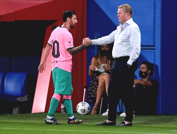 Coach Koeman removed conflict, praised Messi