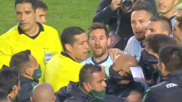 Messi was almost mad at opponents