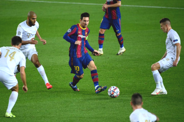 C1 Cup Soccer Results Barcelona - Ferencvaros: Messi sublimation, merciless buffet