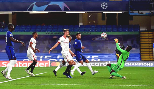 "C1 Cup football results Chelsea - Sevilla: Superb ""Spiderman"""