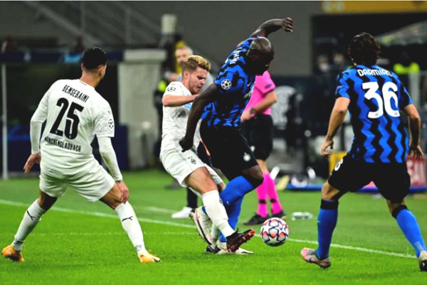 C1 Cup football result, Inter Milan - Monchengladbach: Lukaku shined, salvation at minute 90