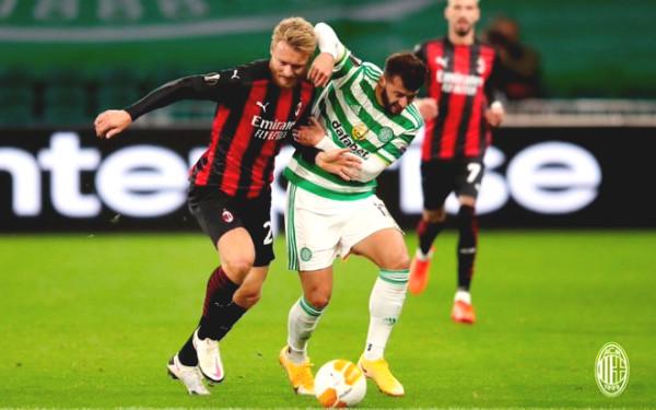Results Europa League Football Celtic - AC Milan