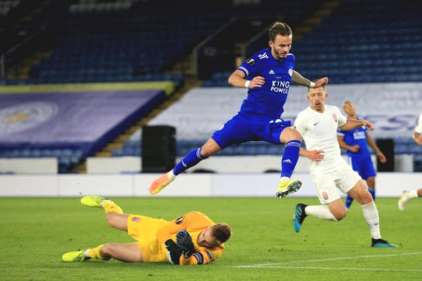 Europa League football result between Leicester - Zorya: Great victory of 3 stars, 67 minutes to finish