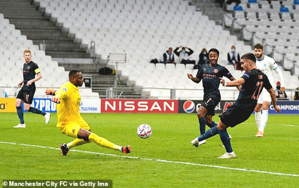 C1 Cup football results, Marseille - Man City: The game was overwhelming, 3 goals