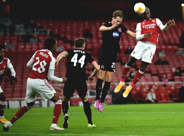 Europa League football results, Arsenal - Dundalk: Continuous attack, stunning 2 goals in 2 minutes