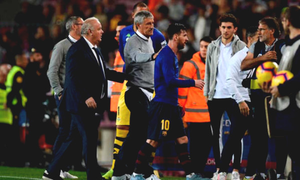 """""""Boss"""" Messi covered in Barca: Coach Setien said bitter words"""