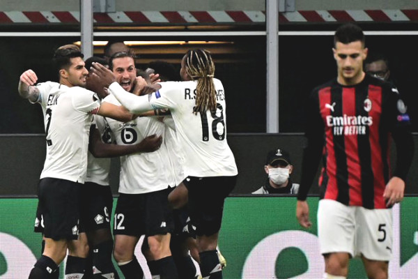 Results of Europa League, AC Milan - Lille: Hat-trick hero, shocks for Ibra
