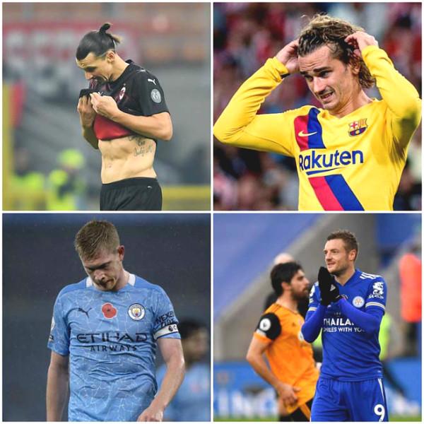 Crazy week of superstars: Vardy, Ibrahimovic, De Bruyne failed penalties