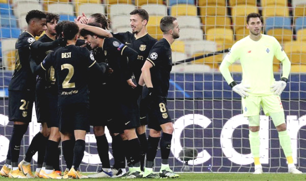 Dynamo Kiev - Barcelona: turning point at minute 52 (C1 cup football results)