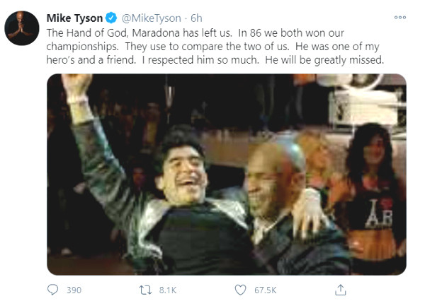 Legendary Maradona died: Nadal, Mike Tyson and shocked star