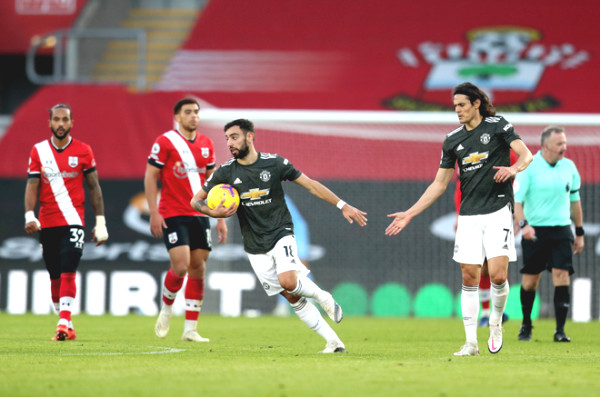 """Bruno Fernandes scored to help Mu win, officially goes into the """"Red Devils"""" history"""