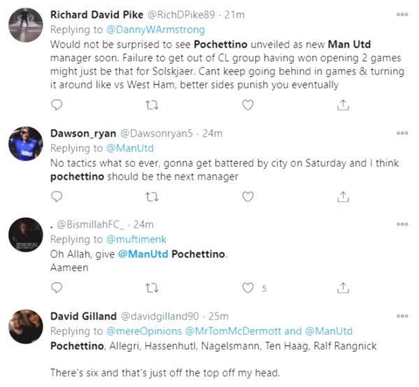 Fans are angry because of Champions League shock, want to fire Solskjaer right away to welcome Pochettino