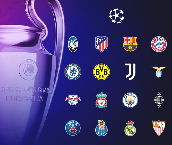 "Revealing 16 teams in 1/8 round of Champions League: Barca faces 6 pairs of ""death"""