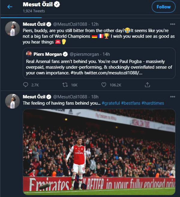 """Ozil was called """"Pogba of Arsenal"""", responded immediately?"""