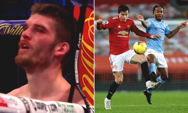 Laughing in tears: Fighter who got beaten still asked for MU - Man City match result