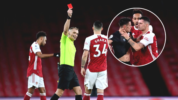 Arsenal star strangled opponent and got a red card: Fans are angry, coach Arteta got angry
