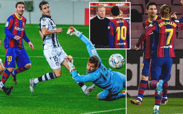 Messi shined to save coach: Barca Coach was happy but still acknowledged loss