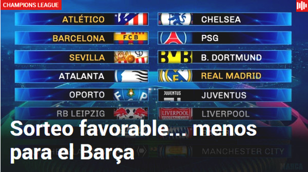 Champions League round 1/8: Spanish Newspaper celebrates, English Newspaper worries for Chelsea - Liverpool