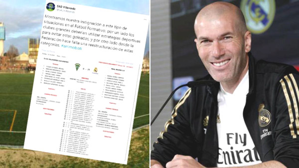 Real Madrid won 31-0 after 40 minutes: The opponent team got crazy, what did Zidane say about the U11?