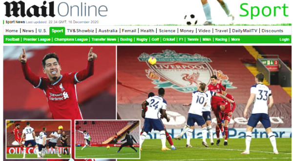 Liverpool Lower Tottenham: Press British praises deserve a number 1, unfortunately for Mourinho