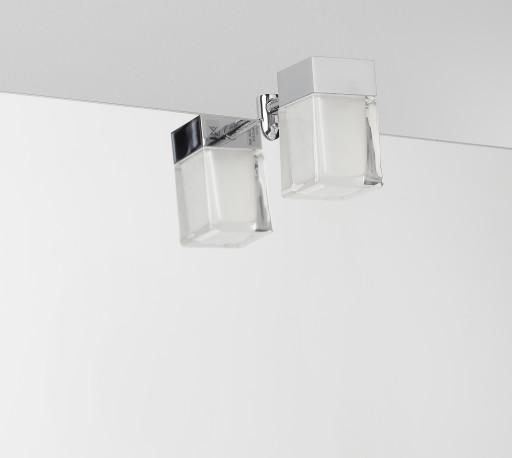 Top Køb Loevschall Cube LED Spejllampe t/montering på spejl, 3W, Krom NA12