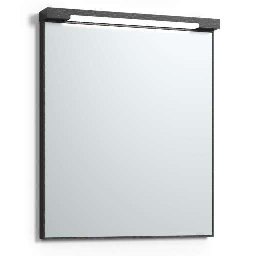 Svedbergs Top-mirror speil med LED-belysning, 60 cm, Sort eik
