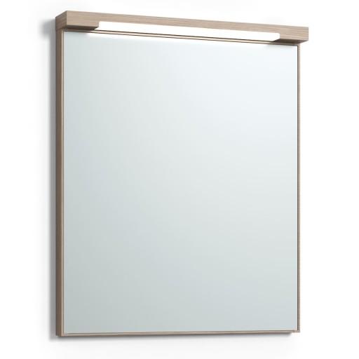 Svedbergs Top-mirror speil med LED-belysning, 60 cm, Lys eik