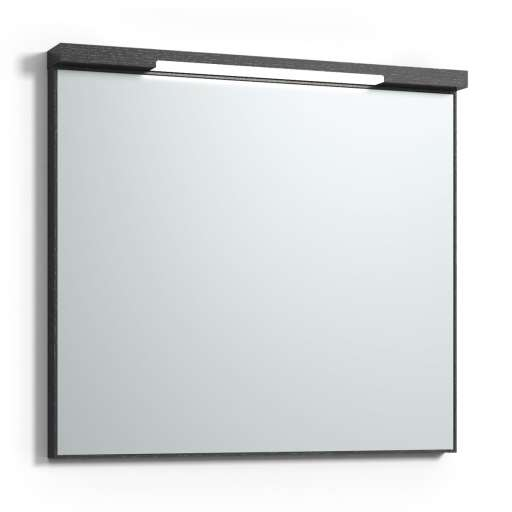 Svedbergs Top-mirror speil med LED-belysning, 80 cm, Sort eik