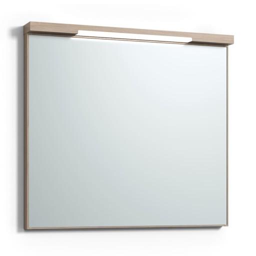Svedbergs Top-mirror speil med LED-belysning, 80 cm, Lys eik