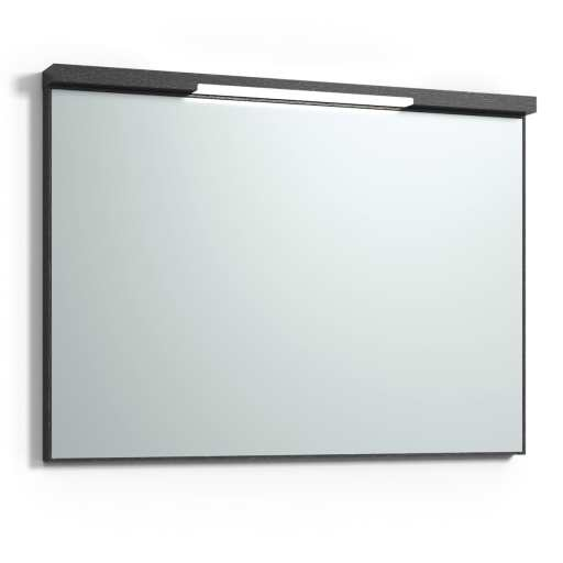 Svedbergs Top-mirror speil med LED-belysning, 100 cm, Sort eik