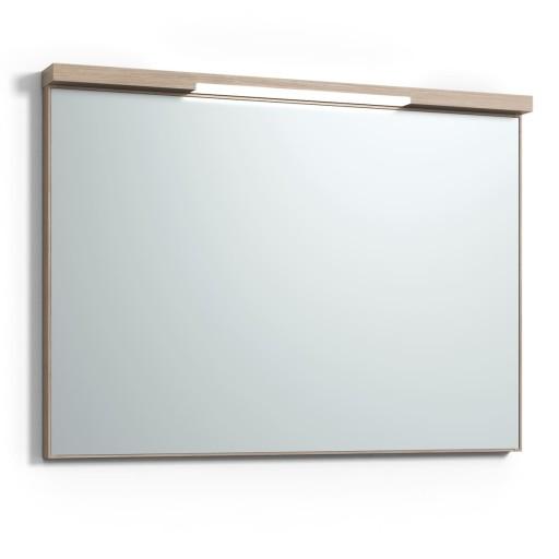 Svedbergs Top-mirror speil med LED-belysning, 100 cm, Lys eik