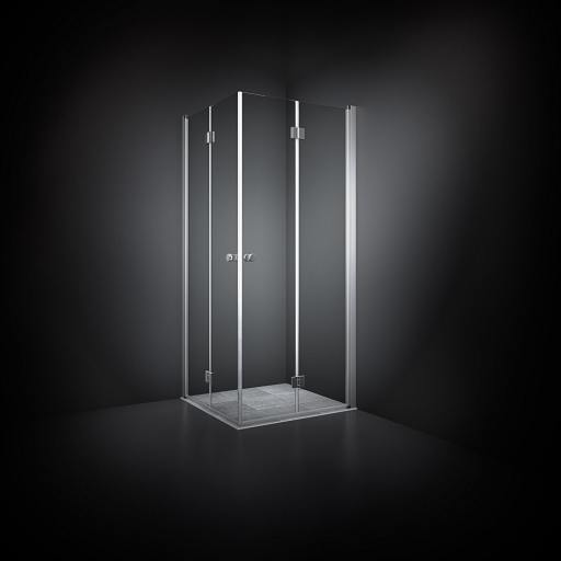 Dansani Match Dusjhjørne 70 x 70 cm, Klart glass/Satin profil - Model 4
